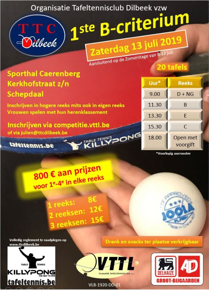 tafeltennis smash dilbeek